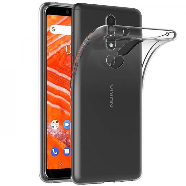 Safers Zero Case für Nokia 3.1 Plus Hülle Transparent Slim Cover Clear Schutzhülle