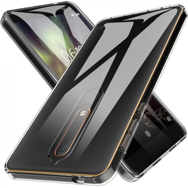 Safers Zero Case für Nokia 6.1 Hülle Transparent Slim Cover Clear Schutzhülle