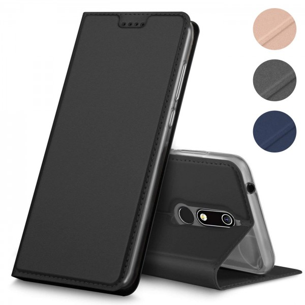 Safers Electro Flip für Nokia 7.1 Hülle Magnet Case Handy Tasche Klapphülle