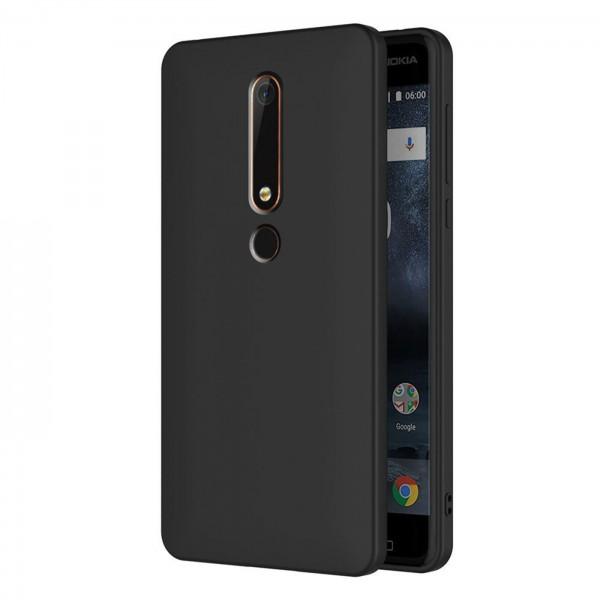 Safers Classic TPU für Nokia 6.1 Schutzhülle Hülle Schwarz Handy Case