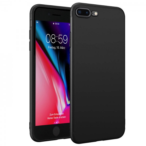 Safers Classic TPU für Apple iPhone 7 Plus / 8 Plus Schutzhülle Hülle Schwarz Handy Case