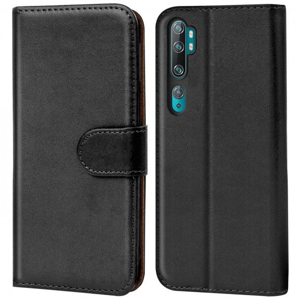 Safers Basic Wallet für Xiaomi Mi Note 10 Hülle Bookstyle Klapphülle Handy Schutz Tasche