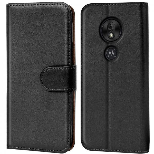 Safers Basic Wallet für Motorola Moto G7 Play Hülle Bookstyle Klapphülle Handy Schutz Tasche