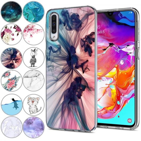 Safers IMD Case für Samsung Galaxy A70 / A70s Hülle Silikon Case mit Muster Schutzhülle