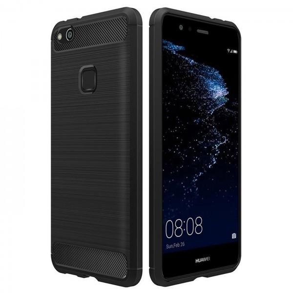 Safers Carbon Hülle für Huawei P10 Lite Schutzhülle Handy Case Cover
