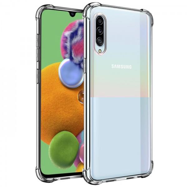 Safers Rugged TPU für Samsung Galaxy A90 5G Schutzhülle Anti Shock Handy Case Transparent