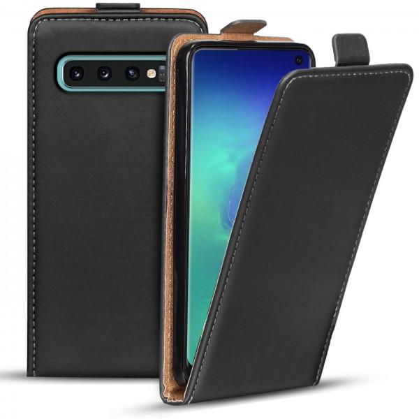 Safers Flipcase für Samsung Galaxy S10 Hülle Klapphülle Cover klassische Handy Schutzhülle