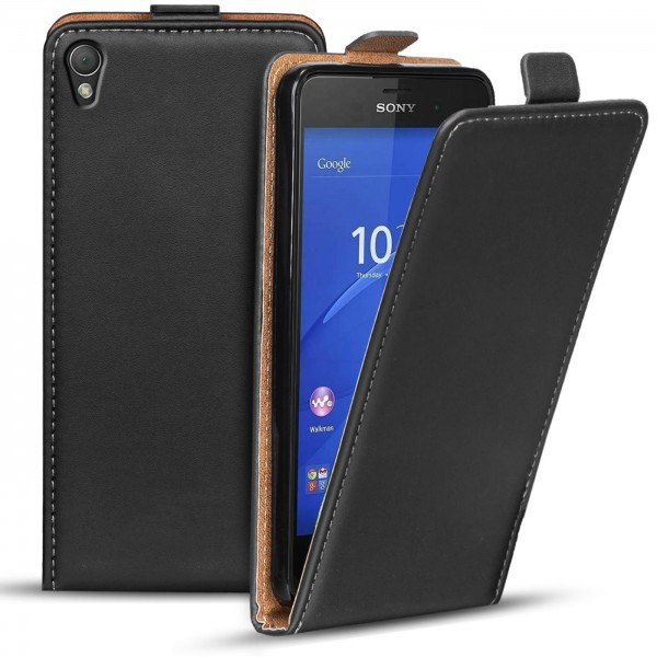 Safers Flipcase für Sony Xperia Z3 Hülle Klapphülle Cover klassische Handy Schutzhülle