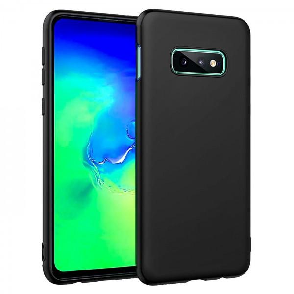 Safers Classic TPU für Samsung Galaxy S10e Schutzhülle Hülle Schwarz Handy Case