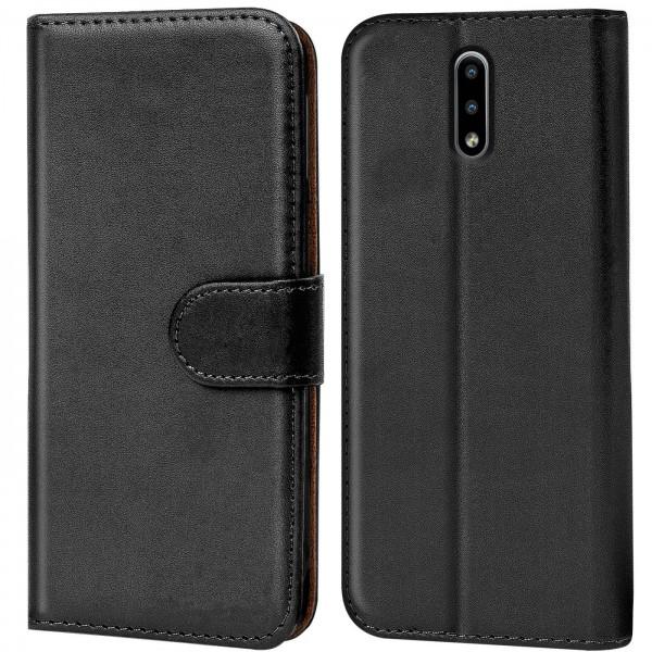Safers Basic Wallet für Nokia 2.3 Hülle Bookstyle Klapphülle Handy Schutz Tasche