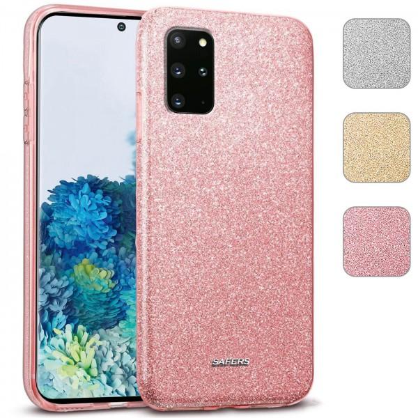 Safers Shiny für Samsung Galaxy S20 Plus Hülle Glitzer Cover TPU Schutzhülle
