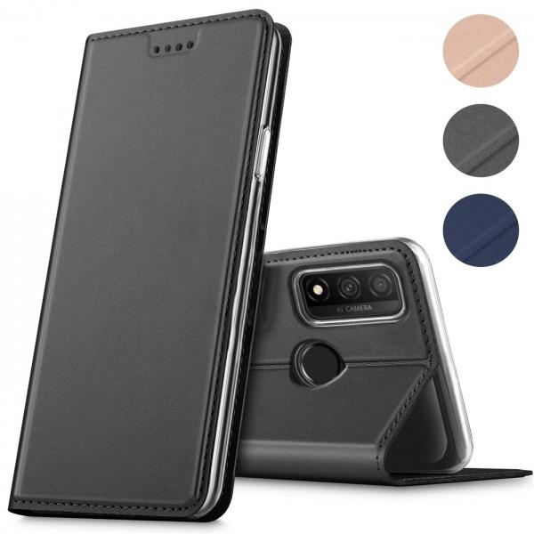 Safers Electro Flip für Huawei P Smart 2020 Hülle Magnet Case Handy Tasche Klapphülle Slim Klapphüll
