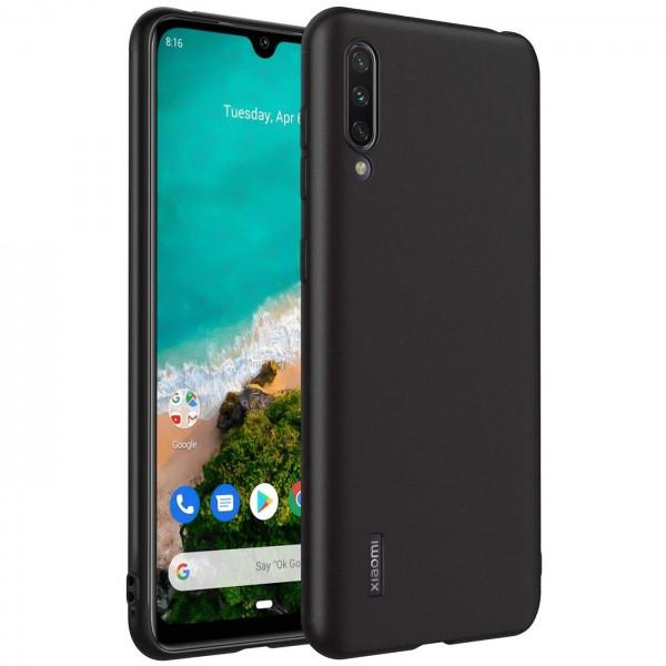 Safers Classic TPU für Xiaomi Mi 9 Lite Schutzhülle Hülle Schwarz Handy Case