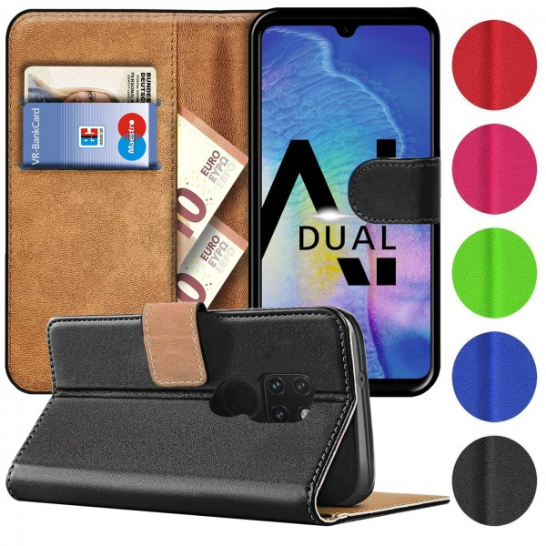 Safers Basic Wallet für Huawei Mate 20 Hülle Bookstyle Klapphülle Handy Schutz Tasche