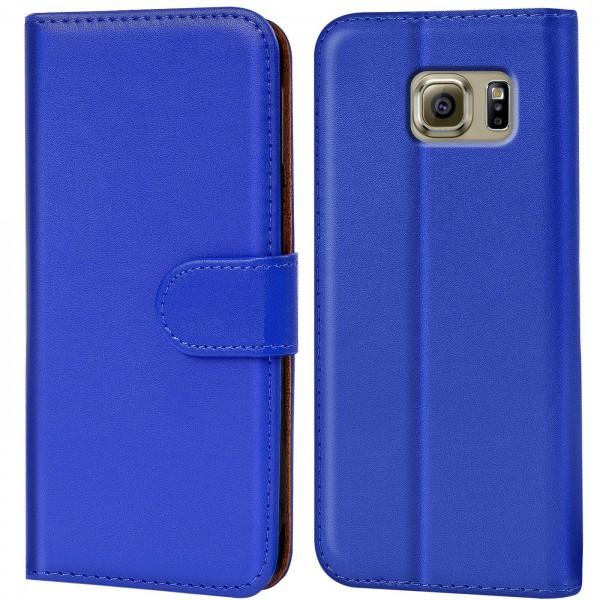 Safers Basic Wallet für Samsung Galaxy S6 Hülle Bookstyle Klapphülle Handy Schutz Tasche
