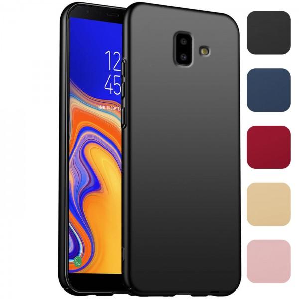 Safers Classic Plain für Samsung Galaxy J6 Plus Hülle Slim Cover Matt Schutzhülle