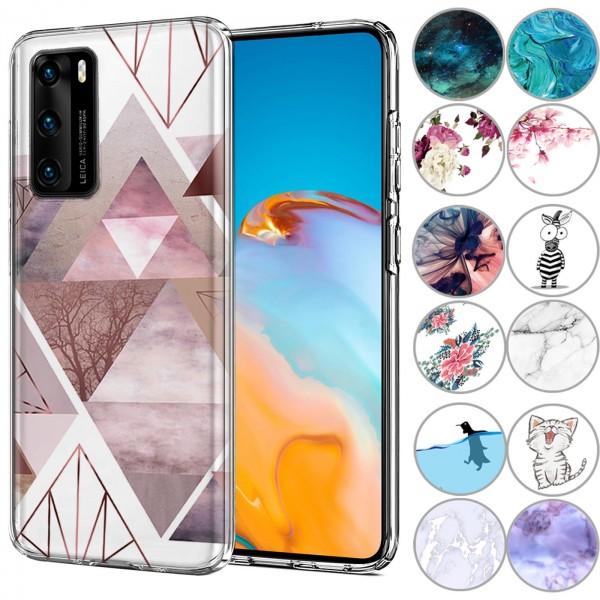 Safers IMD Case für Huawei P40 Hülle Silikon Case mit Muster Schutzhülle