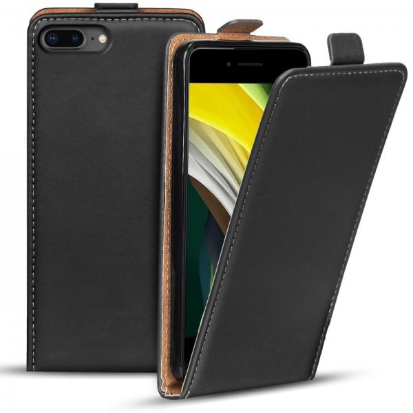 Safers Flipcase für Apple iPhone 7 Plus / 8 Plus Hülle Klapphülle Cover klassische Handy Schutzhülle