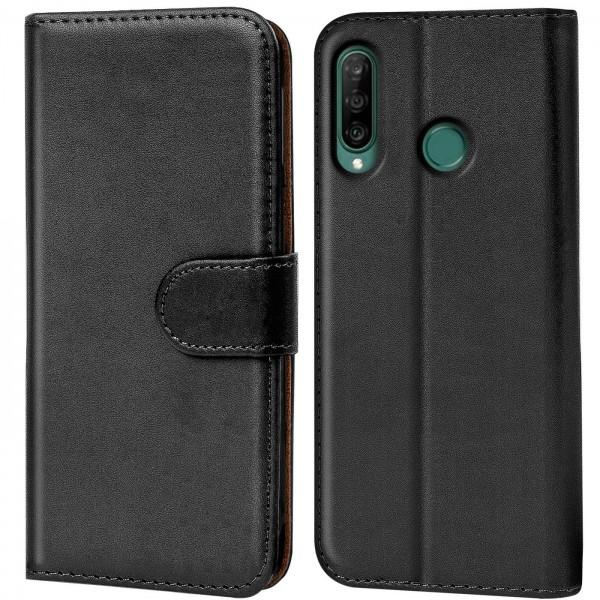 Safers Basic Wallet für Huawei Y6p Hülle Bookstyle Klapphülle Handy Schutz Tasche