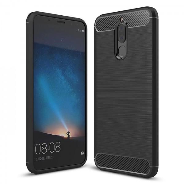 Safers Carbon Hülle für Huawei Mate 10 Lite Schutzhülle Handy Case Cover