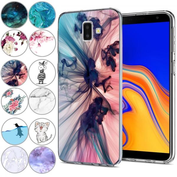 Safers IMD Case für Samsung Galaxy J6 Plus Hülle Silikon Case mit Muster Schutzhülle