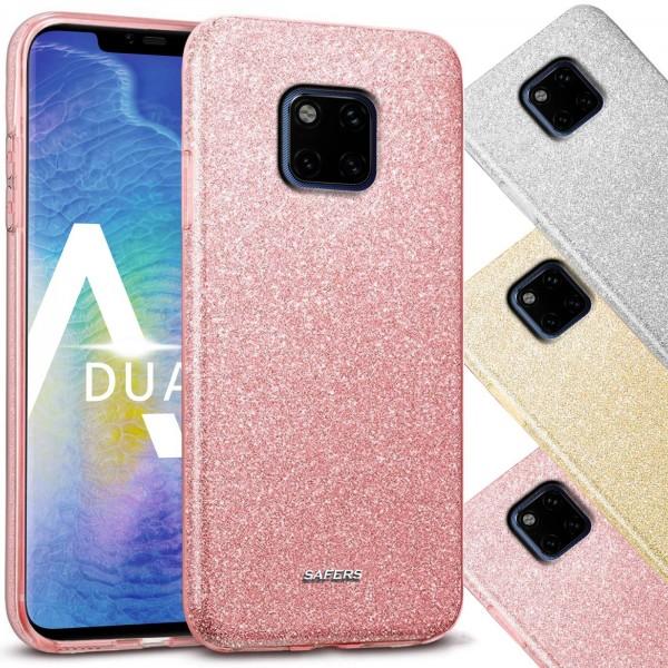 Safers Shiny für Huawei Mate 20 Pro Hülle Glitzer Cover TPU Schutzhülle