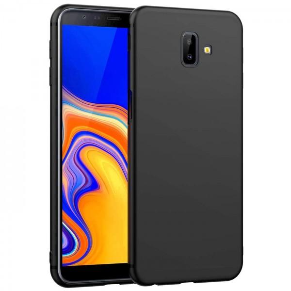 Safers Classic TPU für Samsung Galaxy J6 Plus Schutzhülle Hülle Schwarz Handy Case