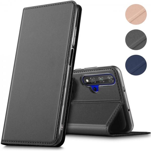 Safers Electro Flip für Huawei Nova 5T Hülle Magnet Case Handy Tasche Klapphülle