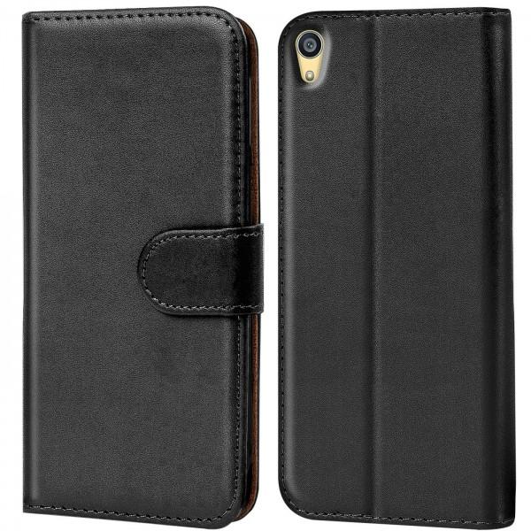 Safers Basic Wallet für Sony Xperia Z5 Hülle Bookstyle Klapphülle Handy Schutz Tasche
