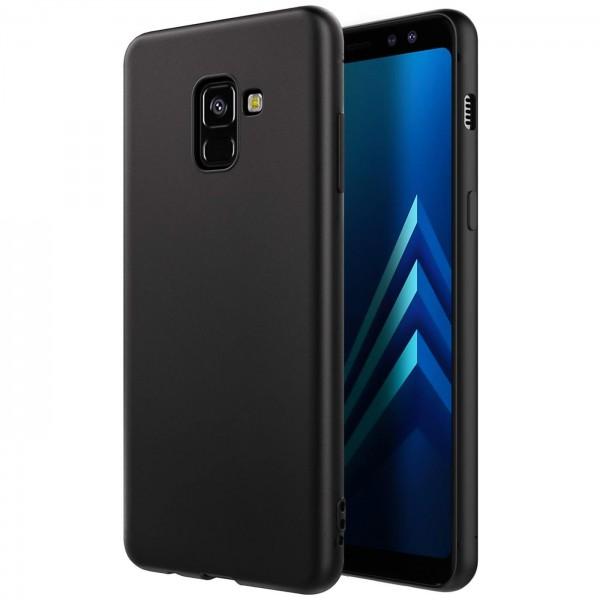 Safers Classic TPU für Samsung Galaxy A6 Plus Schutzhülle Hülle Schwarz Handy Case