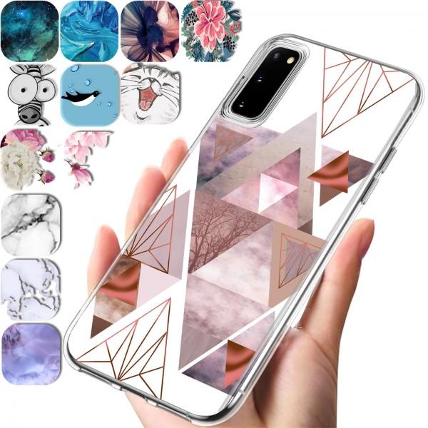 Safers IMD Case für Samsung Galaxy S20 Hülle Silikon Case mit Muster Schutzhülle