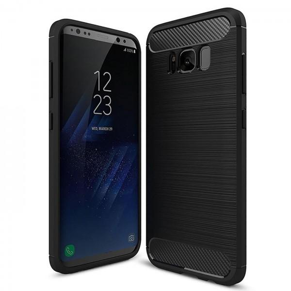 Safers Carbon Hülle für Samsung Galaxy S8 Plus Schutzhülle Handy Case Cover