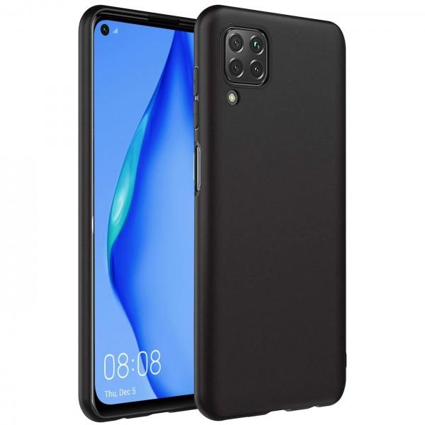 Safers Classic TPU für Huawei P40 Lite Schutzhülle Hülle Schwarz Handy Case