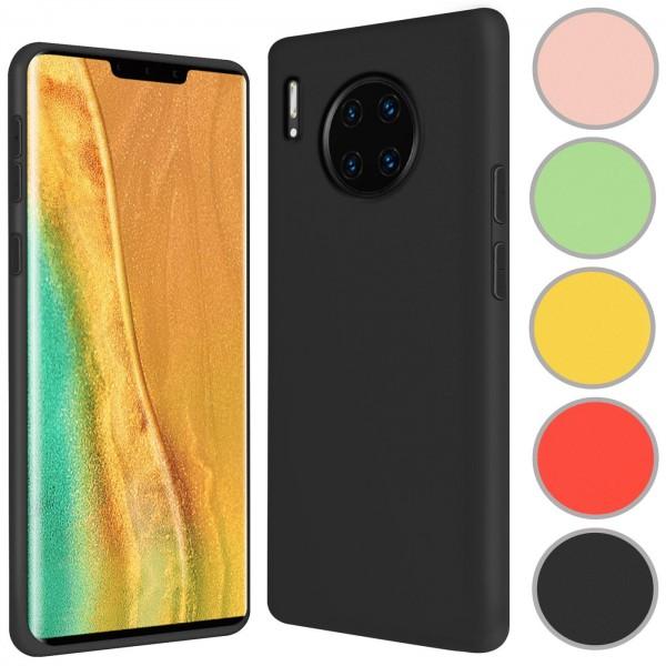 Safers Color TPU für Huawei Mate 30 Pro Hülle Soft Silikon Case mit innenliegendem Stoffbezug