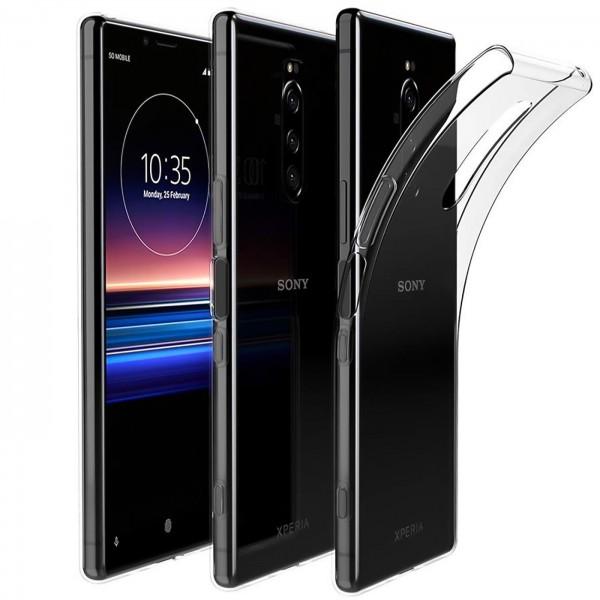 Safers Zero Case für Sony Xperia 1 Hülle Transparent Slim Cover Clear Schutzhülle