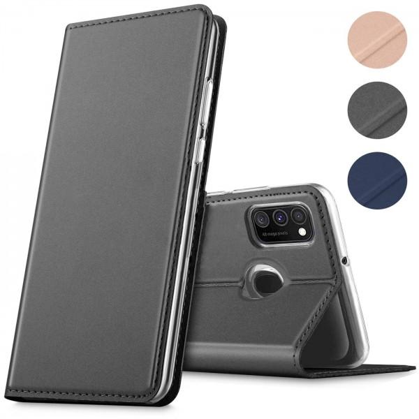 Safers Electro Flip für Samsung Galaxy M30s Hülle Magnet Case Handy Tasche Klapphülle