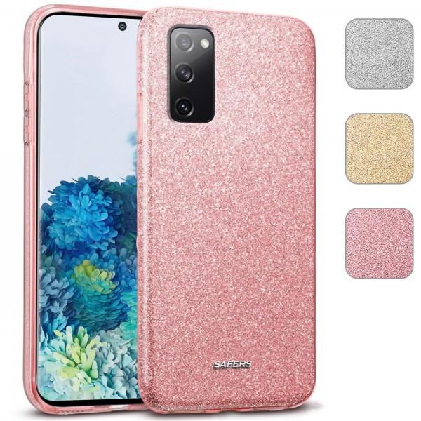 Safers Shiny für Samsung Galaxy S20 Hülle Glitzer Cover TPU Schutzhülle