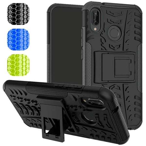 Safers Outdoor Hülle für Huawei P20 Lite Case Hybrid Armor Cover Schutzhülle