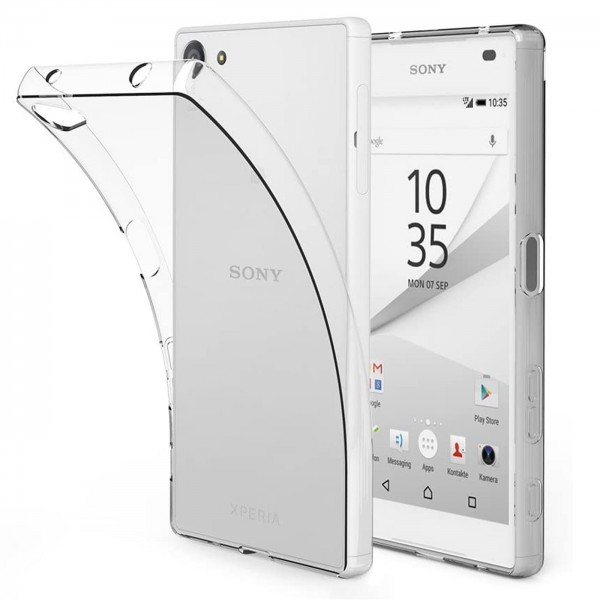 Safers Zero Case für Sony Xperia Z5 Compact Hülle Transparent Slim Cover Clear Schutzhülle