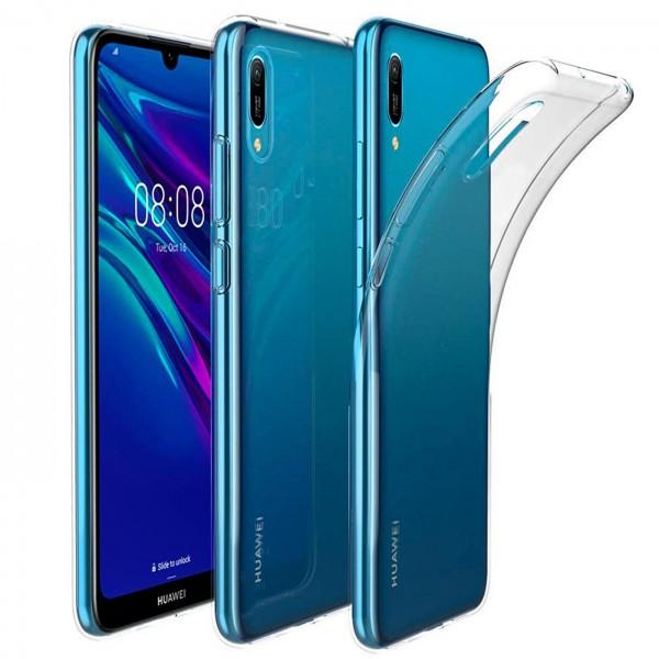 Safers Zero Case für Huawei Y6 2019 Hülle Transparent Slim Cover Clear Schutzhülle