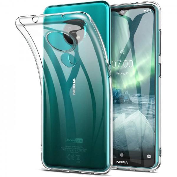 Safers Zero Case für Nokia 7.2 / 6.2 Hülle Transparent Slim Cover Clear Schutzhülle