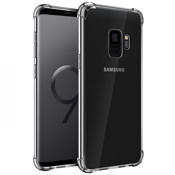 Safers Rugged TPU für Samsung Galaxy S9 Schutzhülle Anti Shock Handy Case Transparent Cover
