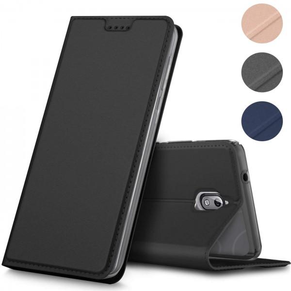 Safers Electro Flip für Nokia 3.1 Hülle Magnet Case Handy Tasche Klapphülle