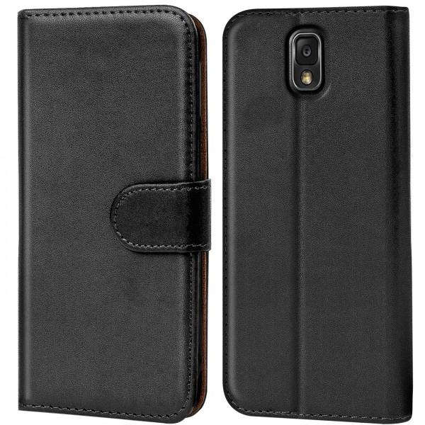 Safers Basic Wallet für Samsung Galaxy Note 3 Hülle Bookstyle Klapphülle Handy Schutz Tasche