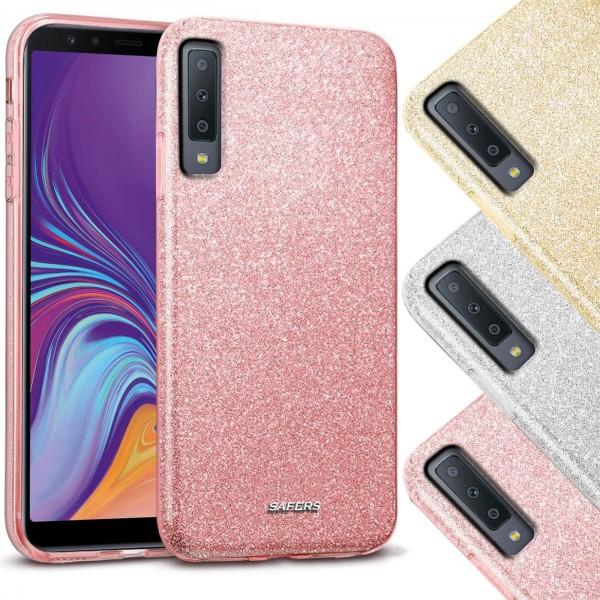 Safers Shiny für Samsung Galaxy A7 2018 Hülle Glitzer Cover TPU Schutzhülle
