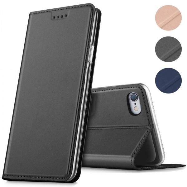 Safers Electro Flip für Apple iPhone 6 Plus Hülle, iPhone 6S Plus Hülle Magnet Case Handy Tasche Kla