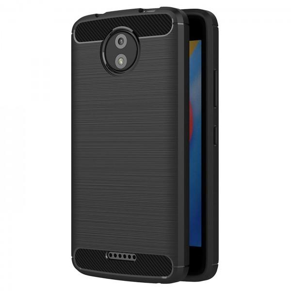 Safers Carbon Hülle für Motorola Moto C Schutzhülle Handy Case Cover