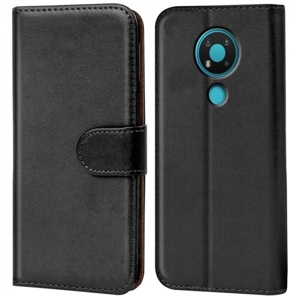 Safers Basic Wallet für Nokia 3.4 Hülle Bookstyle Klapphülle Handy Schutz Tasche