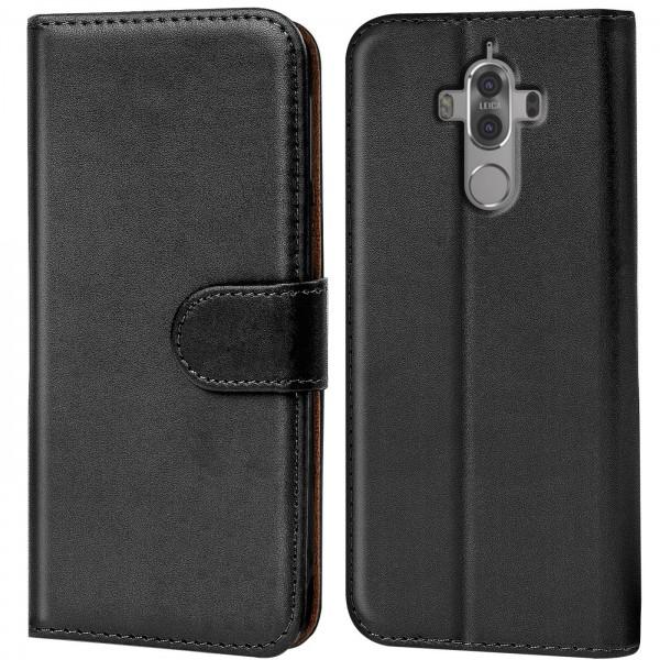 Safers Basic Wallet für Huawei Mate 9 Hülle Bookstyle Klapphülle Handy Schutz Tasche