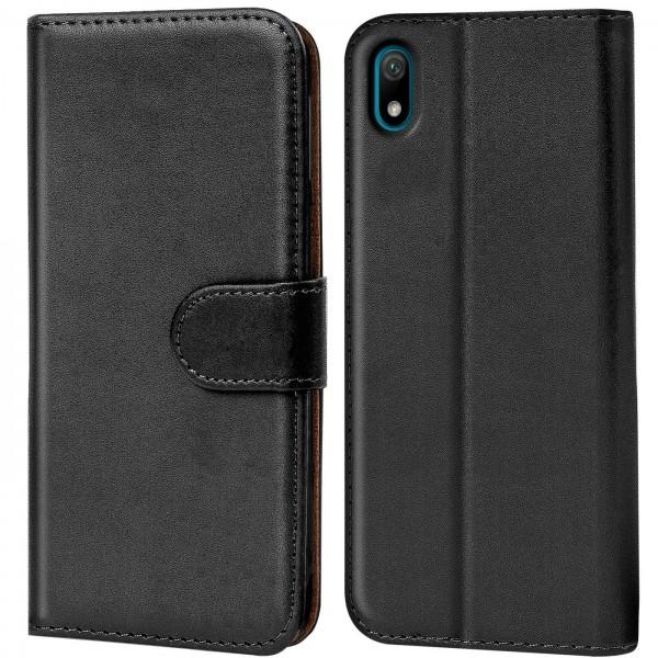 Safers Basic Wallet für Huawei Y5 2019 Hülle Bookstyle Klapphülle Handy Schutz Tasche